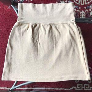 •AMERICAN APPAREL• Nude High Waisted Mini Skirt S